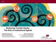 Brokering Transfer Equity: The Role of Institutional Agents