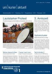 pdf - uni kurier aktuell Nr. 79 02/2010 - Universität Erlangen-Nürnberg