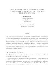 weighted and two stage least squares estimation of ... - Boston College