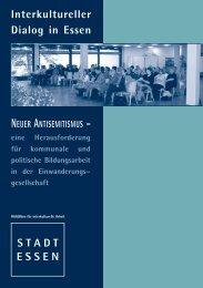 Interkultureller Dialog in Essen Neuer Antisemitismus