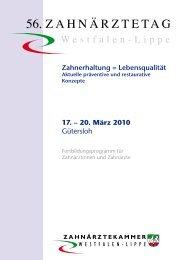 Zahnerhaltung = Lebensqualität - Gütersloh Marketing GmbH