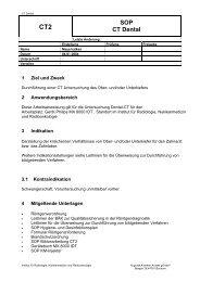 CT Dental - Institut für Radiologie, Nuklearmedizin und ...