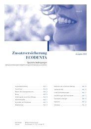Zusatzversicherung ECODENTA - CSS Versicherung