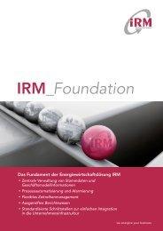 IRM_Foundation - IRM Integriertes Ressourcen-Management AG