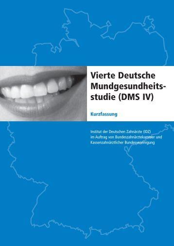 Vierte Deutsche Mundgesundheitsstudie (DMS IV)