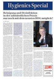 Reinigung und Desinfektion in der zahnärztlichen Praxis ... - MP Recht