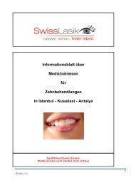 Dentalreisen, Zahnimplantate, Zahnersatz, Zahnklinik ... - Swisslasik