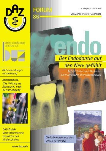 FORUM 86 - Deutscher Arbeitskreis für Zahnheilkunde