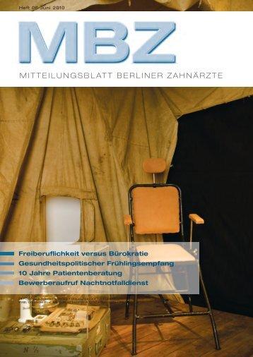 MBZ Ausgabe 06/2010 - Zahnärztekammer Berlin