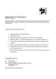 Materialliste: Folgendes sollen die Teilnehmer zum Kurs von Dr