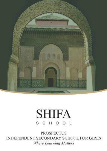 PROSPECTUS INDEPENDENT SECONDARY ... - Shifa Trust