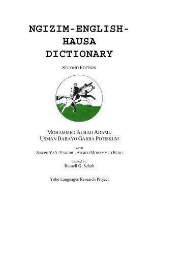 english to hausa dictionary jar