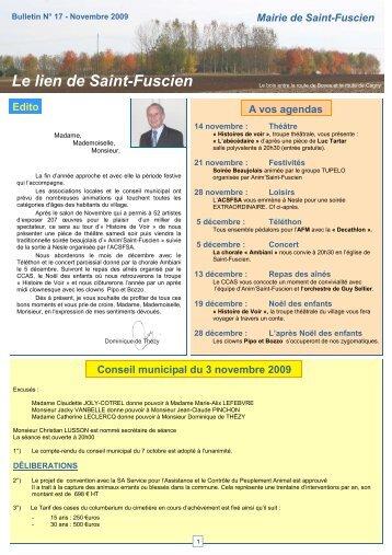 Le lien de Saint-Fuscien Edito A vos agendas