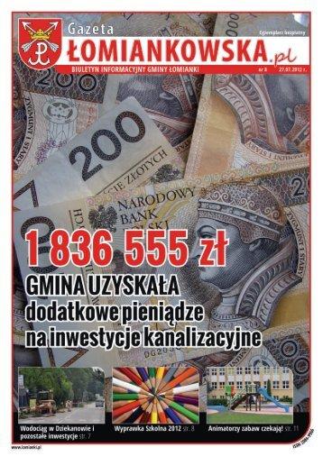 Gazeta Łomiankowska.pl nr 8 z 27 lipca - Łomianki, Urząd Miasta i ...