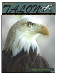 Vo10 No1 annual 2007.pub - Hawk Creek Wildlife Center, Inc.