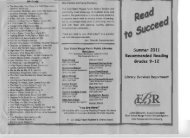 Summer 2011 Recommended Reading Grades 9-12 - East Baton ...