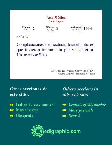 Complicaciones de fracturas toracolumbares que ... - edigraphic.com
