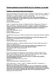 Přehled publikační činnosti KDHO UK 2.LF a FN Motol za rok 2007