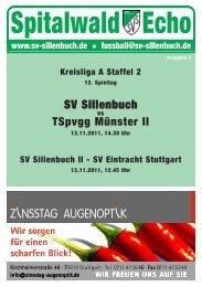 Spitalwald Echo Nr. 5 (13.11.2011) - Fußball beim SV Sillenbuch