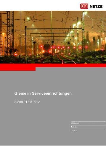 Gleise in Serviceeinrichtungen - Deutsche Bahn AG