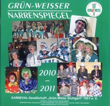 """KARNEVAL-Gesellschaft """"GrÜn-VÜQIiI-ESI flljttgart"""" 151 et:"""
