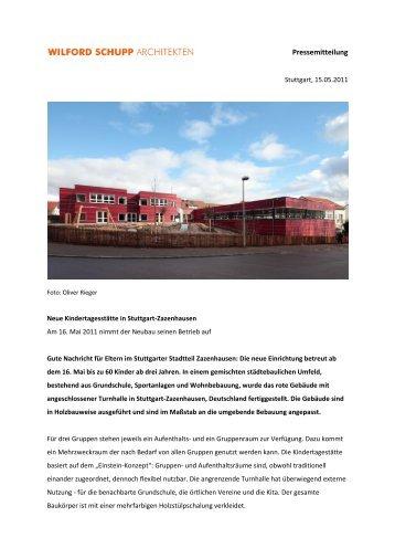 Pressemitteilung (320 KB) - Wilford Schupp Architekten
