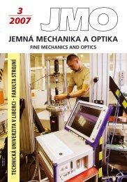 technická univerzita v liberci fakulta strojní - Jemná mechanika a ...