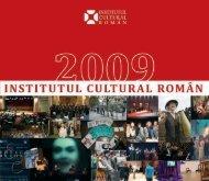 Raport de activitate 2009 - Institutul Cultural Român