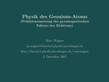 Physik des Geonium-Atoms