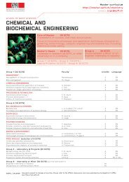 CHEMICAL AND BIOCHEMICAL ENGINEERING - Master EPFL