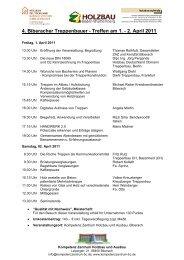 4. Biberacher Treppenbauer - Treffen am 1. - Holzbau Deutschland