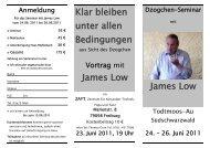 Klar bleiben unter allen Bedingungen James Low James Low