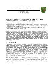 concrete bored piles construction productivity assessment using