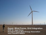 Egypt, Wind Farms, Grid Integration