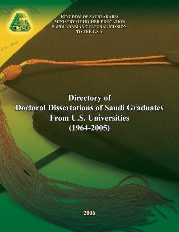 Introduction - Saudi Arabian Cultural Mission