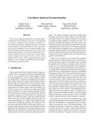Curvilinear Spherical Parameterization - Loria