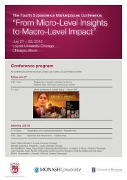 Conference program - Faculty of Business and Economics - Monash ...