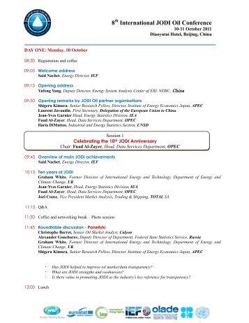 8th International JODI Oil Conference