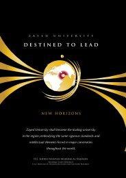 Destined to Lead Document - Zayed University
