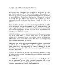 His Highness Sheikh Khalifa Bin Zayed Al Nahayan