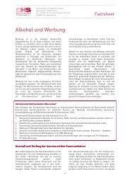 """Factsheet """"Alkohol und Werbung"""" - Aktionswoche Alkohol"""