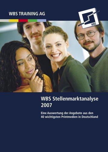 WBS Stellenmarktanalyse 2007 - WBS Training AG