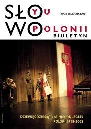 Nr 38 BELGRAD 2008 - Polonia-serbia.org