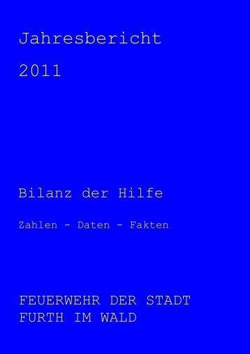 jahresbericht 2011 - Feuerwehr der Stadt Furth im Wald