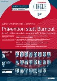 Prävention statt Burnout - IBG