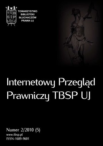 Numer 2/2010 [5] Internetowego Przeglądu Prawniczego ... - TBSP UJ