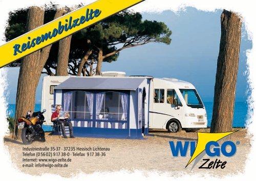Ausstattung und Funktionen - Wigo Zelte