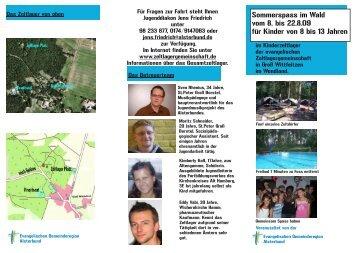 Sommerspass im Wald vom 8. bis 22.8.09 für Kinder ... - Alsterbund