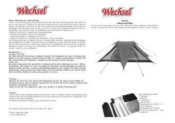 Polaris Aufbau und Pflege - Wechsel Tents