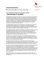 Verbindungen in der Mitte - BürgerStiftung Hamburg